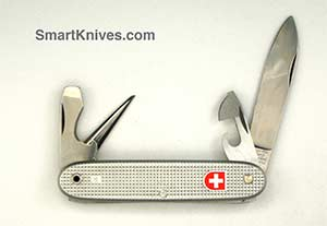 Victorinox And Wenger 1985 Soldier 93mm Aluminum Alox