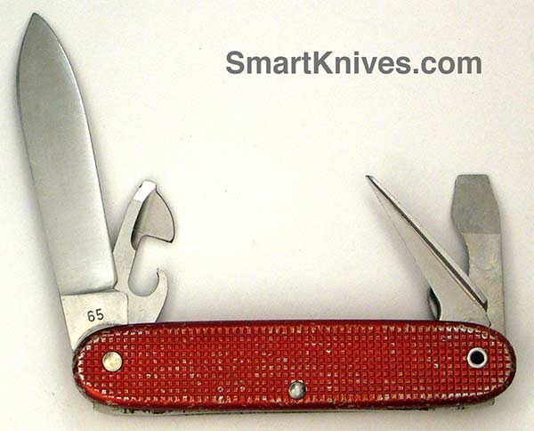 Victorinox And Wenger 1965 Red Alox Soldier 93mm Aluminum