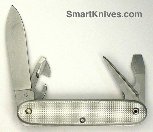 Victorinox And Wenger 1975 Soldier 93mm Aluminum Alox