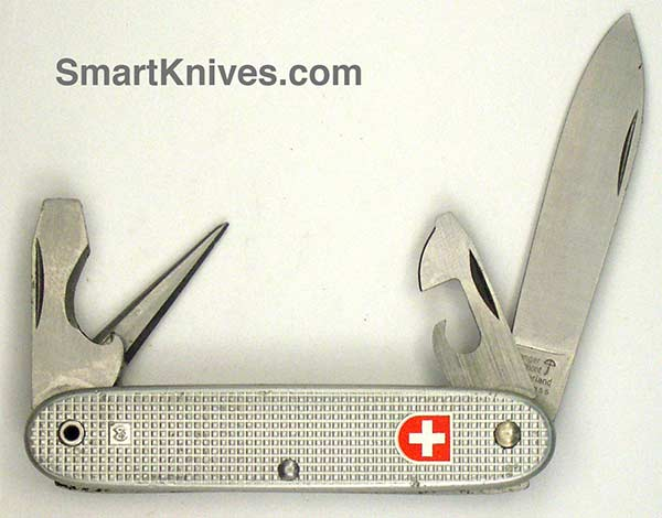 Victorinox And Wenger 1980 Soldier 93mm Aluminum Alox